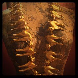 Jewelry - Vintage Golden Cat Statement Necklace